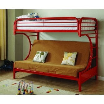 Element Futon Bunkbed Red