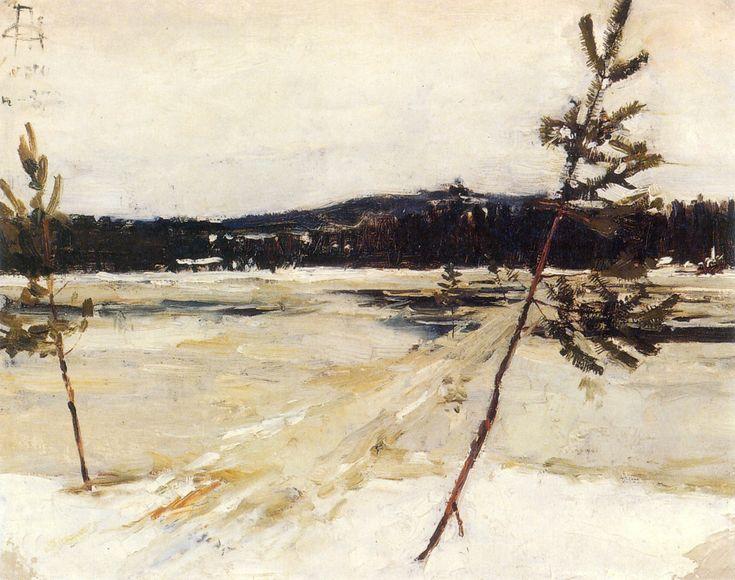 Viittatie jäällä Akseli Gallen-Kallela - 1887