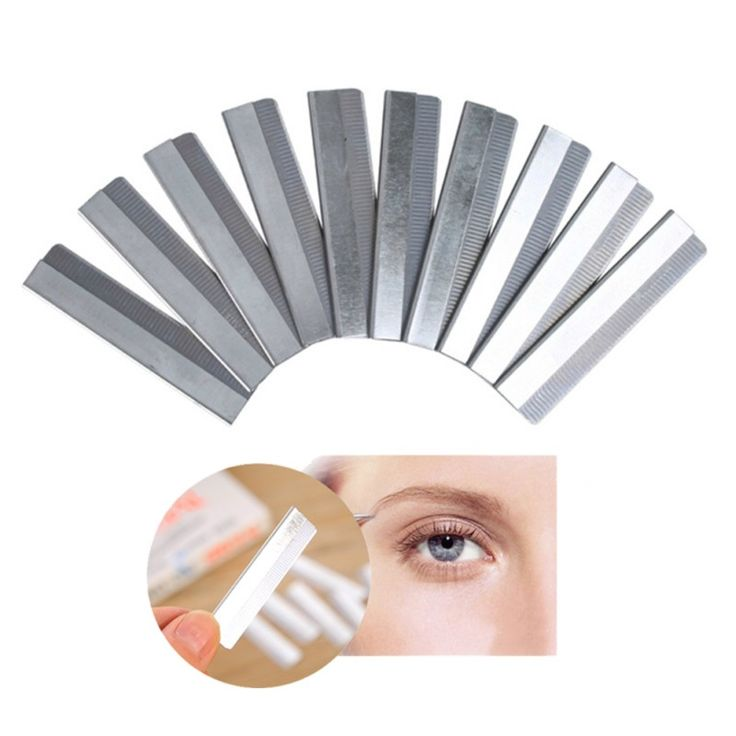 10Pcs/lot Eyebrow Razor Trimmer Face Hair Remover Make Up Tools Womens Bikini Shaver Shaper Trimmer Eye Brow Shaving Trimmers #Affiliate