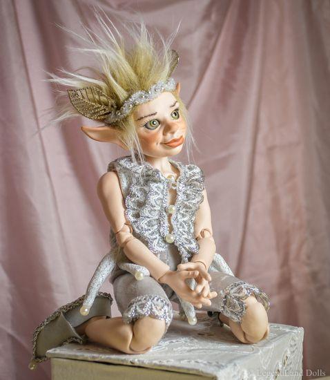 Male BJD elf Ball Jointed Doll. Rafael is a porcelain OOAK doll. Handmade.