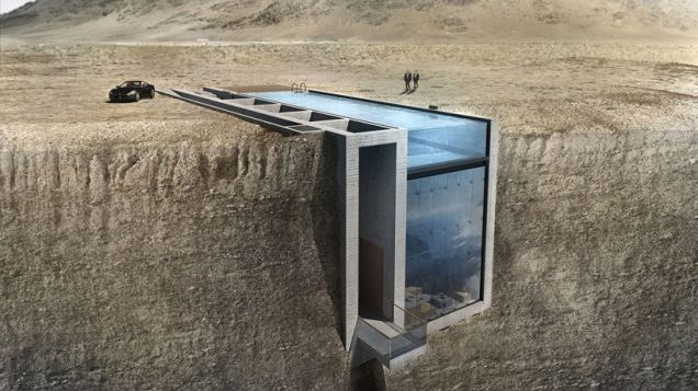 Cliffs are beautiful, terrifying, and exhilarating all at the same time. Can you imagine living inside of a glass house that was built inside of the edge of a cliff? This is what a couple of Greek architects are proposing.