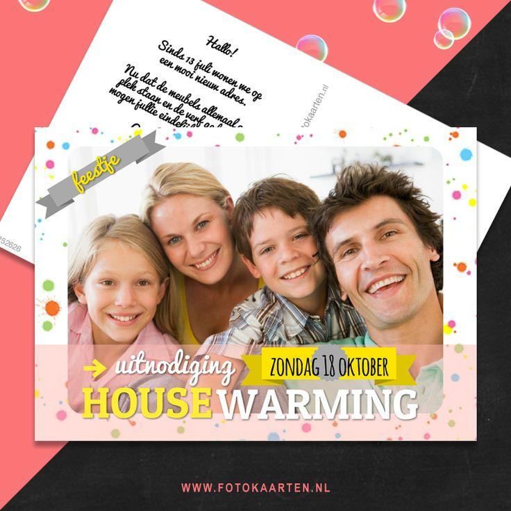 Net verhuisd of je huis verbouwd? Een goede reden voor een feestje. Nodig al je vrienden en familie uit met deze uitnodiging.  www.fotokaarten.nl