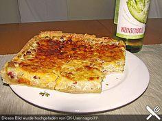 Katis Zwiebelkuchen vom Blech (Rezept mit Bild) von selina2005 | Chefkoch.de