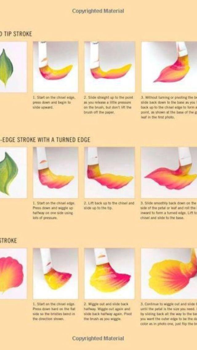 One stroke flower petal painting illustration...