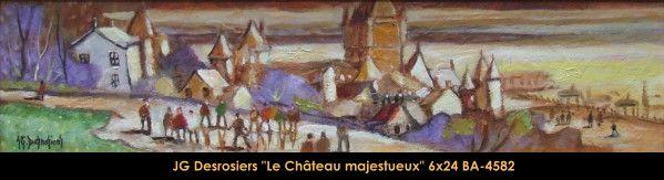 Original oill painting on canevas by Jean-Guy Desrosiers #jeanguydesrosiers #artist #canadianartist #quebecartist #art #fineart #figurativeart #originalpainting #oilpainting #villagescene #summerscene #balcondart #multiart