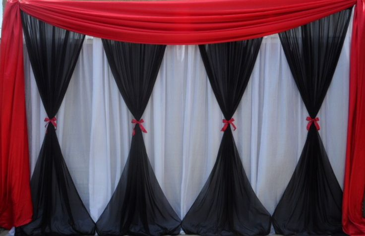 Black, Red, White Backdrop