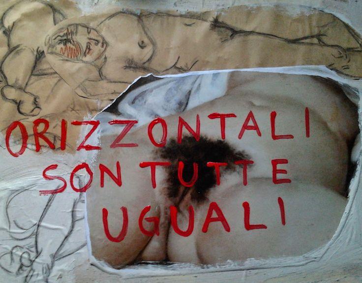 TELA BIANCA (il blog di Paola Marchi:riflessioni su arte e spiritualità) : ORIZZONTALI SON TUTTE UGUALI