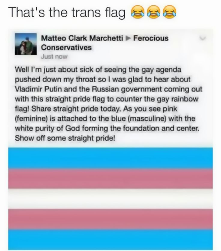 Homophobes are idiots, what did you expect from a selfish bigot? <<<<< I actually saw this post and laughed so hard because I'm Trans. Everyone around me was sharing the Trans flag without knowing it XD<<<omg