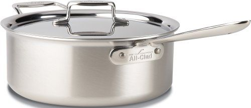 AllClad BD55206 D5 Brushed 1810 Stainless Steel 5Ply Bonded Dishwasher Safe Deep Saute Pan with Lid Cookware 6Quart Silver *** Continue @