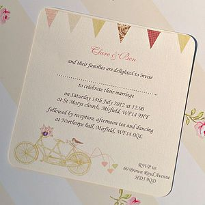 'Made For Two' Wedding Invitation Cards http://www.weddingheart.co.uk/not-on-the-high-street-com---rsvp-reply-cards.html