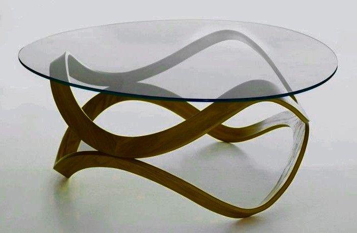 Table Basse Ronde Design Verre Et Bois Table Basse Ronde Pour Le Salon Di 2020