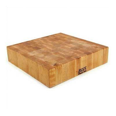 "John Boos BoosBlock Square Maple Butcher Block Cutting Board Size: 18"" x 18"""