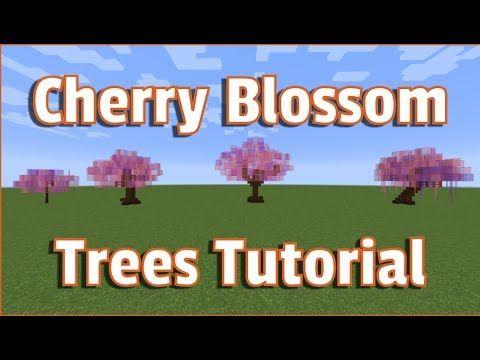 Minecraft Cherry Blossom Trees Tutorial How To Make Perfect Trees Every Minecraft Tree Blossom Trees Minecraft Garden
