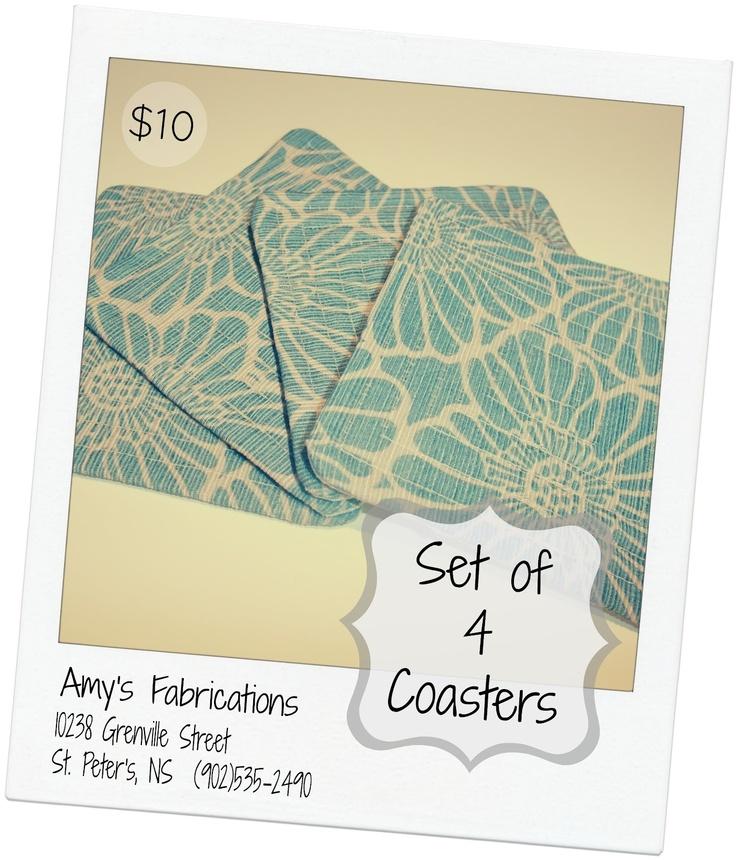 Amy's Fabrications: Fabric Coasters