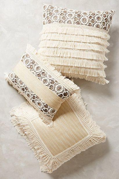 Throw Pillows Luxury : Fringe Pillow #anthrofave #ivorydecor #anthropologie Your Anthropologie Favorites Pinterest ...