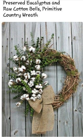 1000 Images About Decorating With Cotton And Wreath Decor