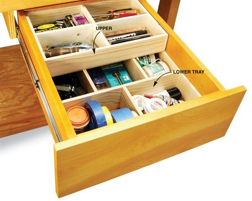 Deep drawer organizer trays organization and storage pinterest pine shops and drawers for How to organize bathroom drawers