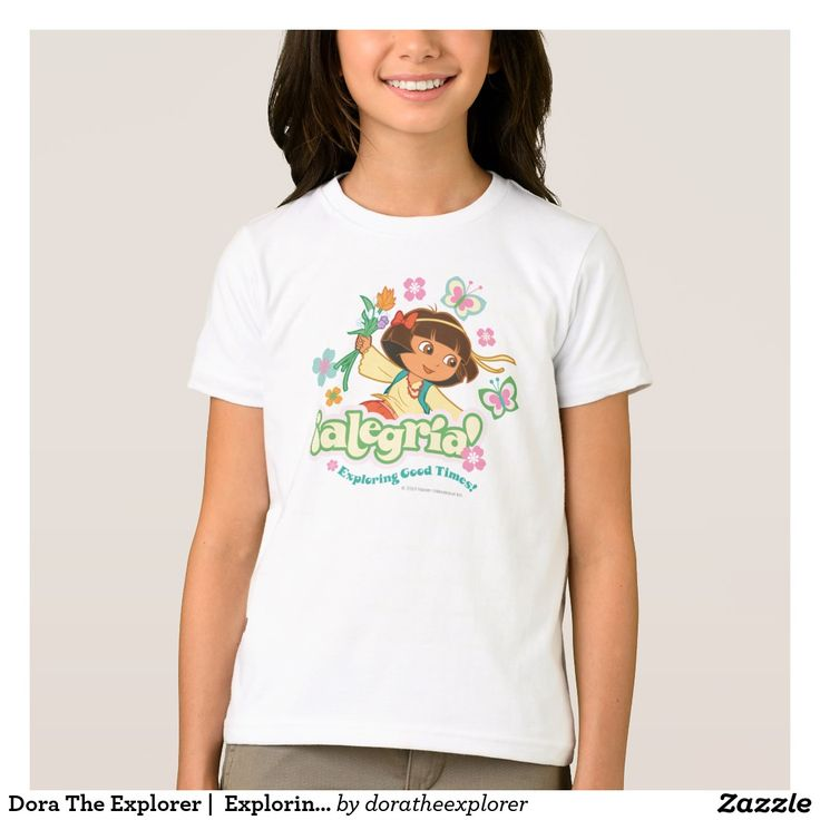 Dora The Explorer |  Exploring Good Times! T-Shirt. Producto disponible en tienda Zazzle. Vestuario, moda. Product available in Zazzle store. Fashion wardrobe. Regalos, Gifts. Trendy tshirt. #camiseta #tshirt