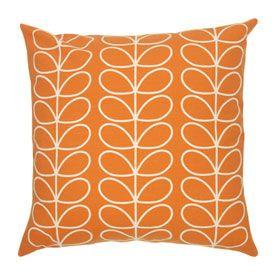 Tiny Linear Stem Cushion Orange
