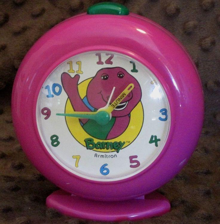1993 Barney The Dinosaur Amp Baby Bop Alarm Clock For