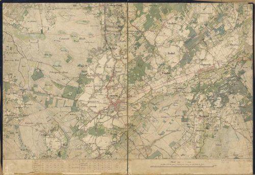 Topografische kaart van Tilburg en omgeving. Bevat de plaatsen Berkel, Enschot, …