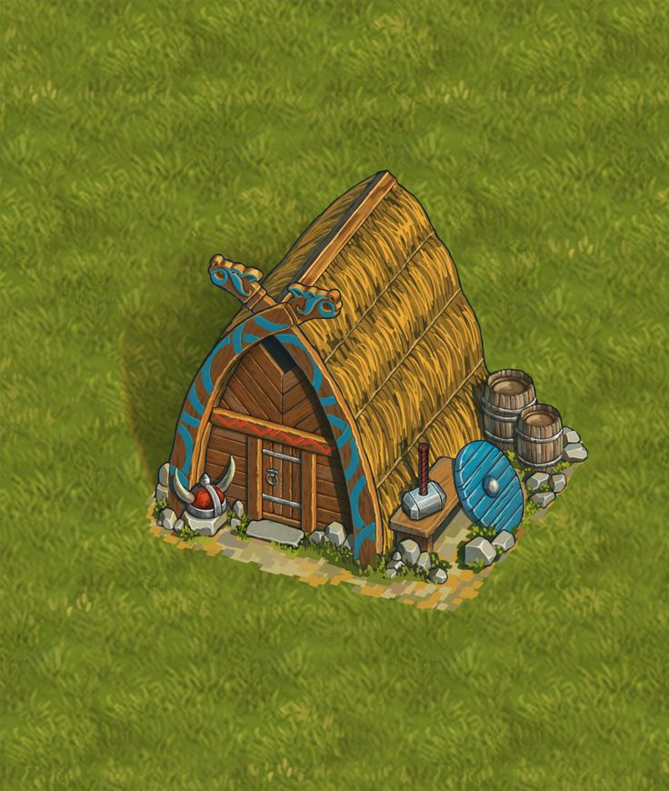 ArtStation - Viking's house, Alina Kochemasova