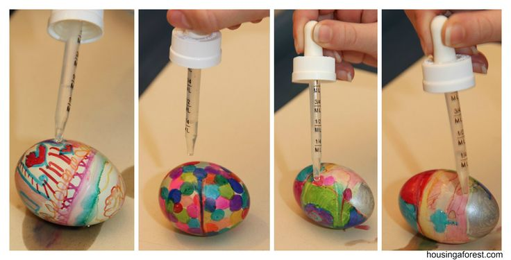 """""""Sharpie Tie Dye Easter Eggs"""" Decorate with sharpies and drip with rubbing alcohol. Pretty:)"""