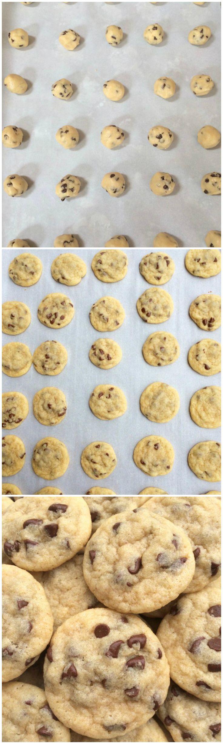 Soft Mini Chocolate Chip Cookies Bites!