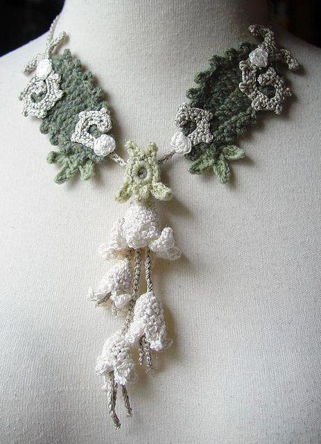 Crochet Necklaces Jewelry | Crochet Necklace Art Nouveau Silk Cashmere | Flickr - Photo Sharing!