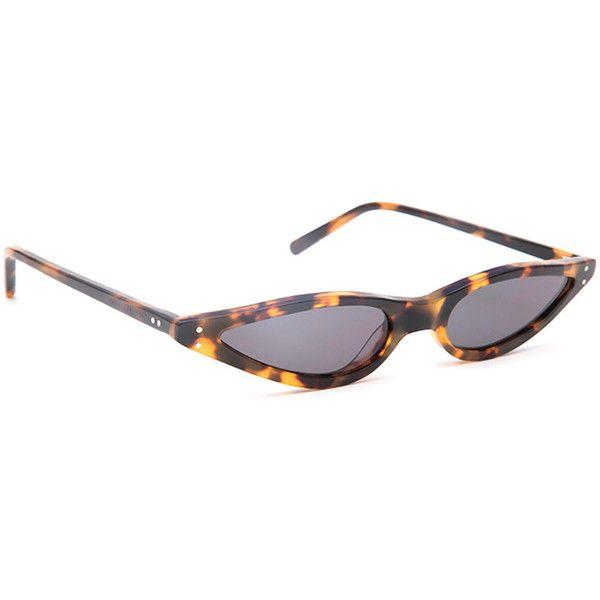 George Keburia George Keburia Tortoiseshell Sunglasses ($215) ❤ liked on Polyvore featuring accessories, eyewear, sunglasses, vintage tortoise shell sunglasses, futuristic sunglasses, acetate sunglasses, tortoise cat eye sunglasses and cat-eye glasses
