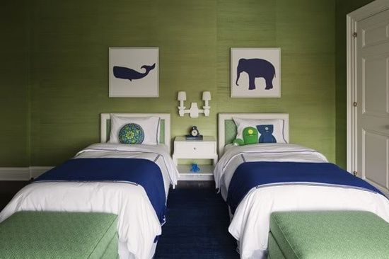 Green and Blue boys room. Love the colors for my teenagers room! Hope you like it Casey!