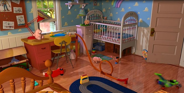 Andy S Bedroom Toy Story Places Bedroom Toys Bedroom และ Toys