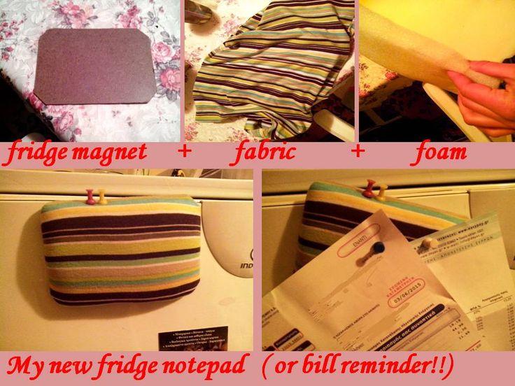 my fridge notepad!
