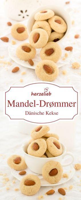 Plätzchen Rezepte: Mandel-Drømmer - Rezept aus Dänemark. Einfach und leicht sind diese Cookies von herzelieb zu  backen! #kekse #plätzchen #cookies #deutsch #foodblog Shared by Where YoUth Rise