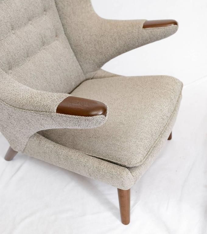 "Hans Wegner ""Papa Bear"" Chair and Footstool 8"