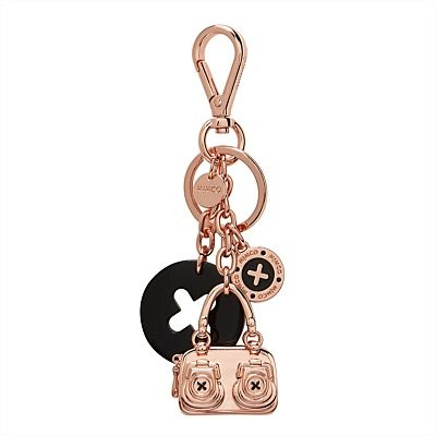 Button Bag Key Ring, gift, rosegold, keyring, mimco