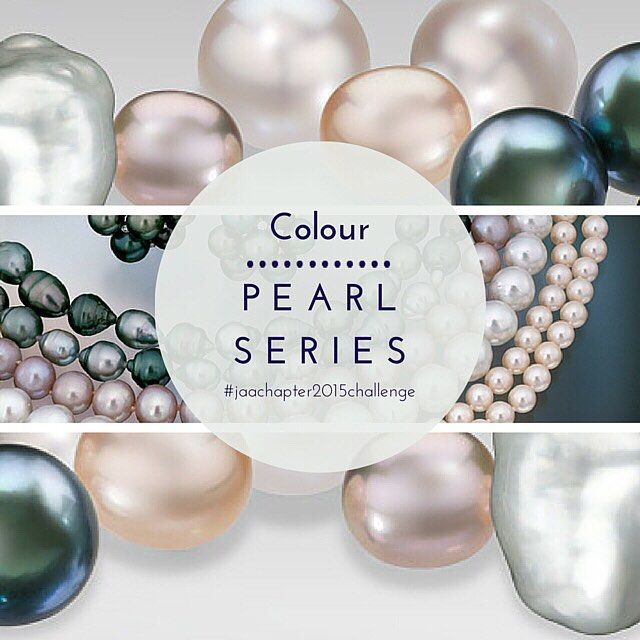 #pearlseries  Colours vary by the type of pearl in a spectrum not just including white and black but hues of champagne, silver, pink, gold, cream, green and purple. Overtones in a pearl's lustre and the rainbow iridescence known as orient also add to the colour of a pearl.  #pearl #pearls #jewellery #jeweller #ring #engagementring #weddingring #bracelet #bangle #necklace #pendant #chain #earrings #colour #pearlcolour #white #black #champagne #silver #pink #gold #cream #green #purple #lustre