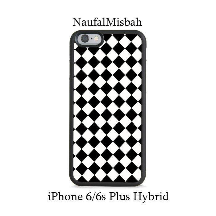 Black White Diamond iPhone 6/6s PLUS HYBRID Case Cover