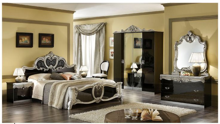 Black Italian Bedroom Furniture Sets For more pictures and design ideas, please visit my blog http://pesonashop.com