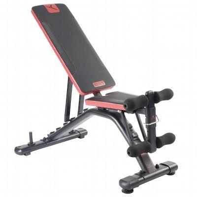 Banc de musculation BI910  - marque : DOMYOS Le banc de musculation polyvalent et confortable !... prix : 129.00 €  chez Decathlon