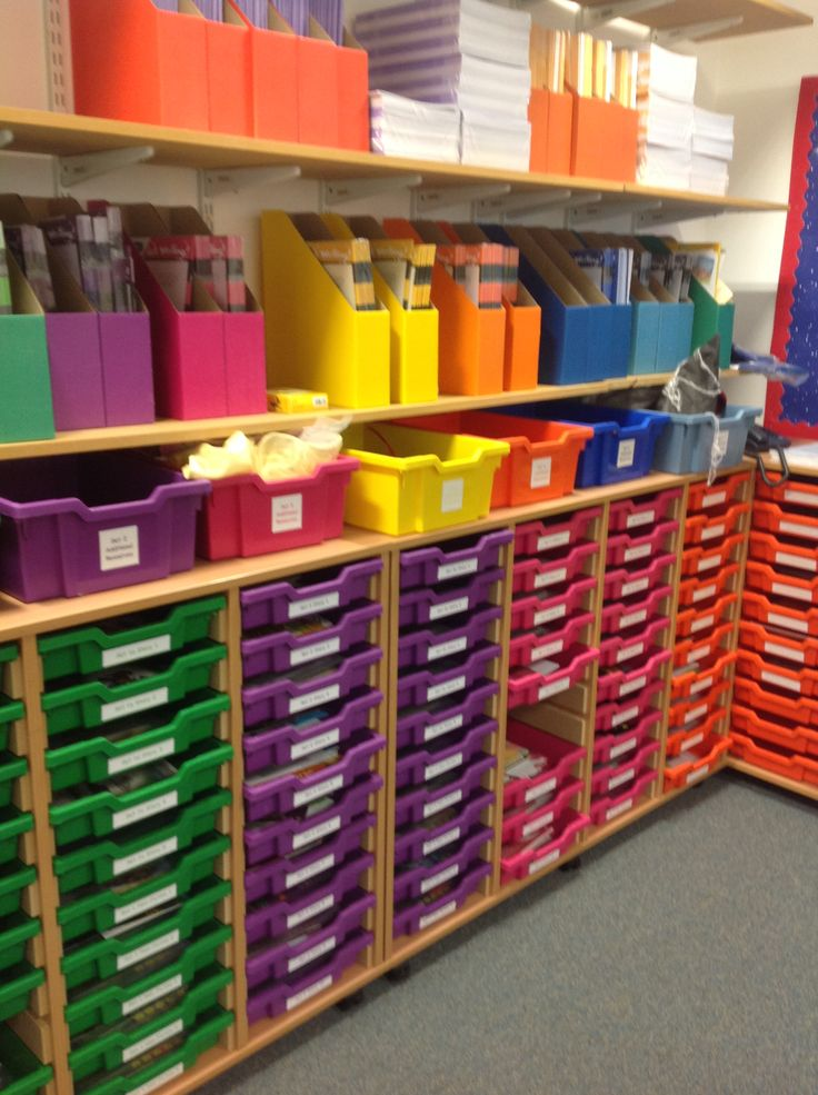 RWI Storage area. One tray for every text. Trays contain sets of texts, linked texts, previous planning and other resources.