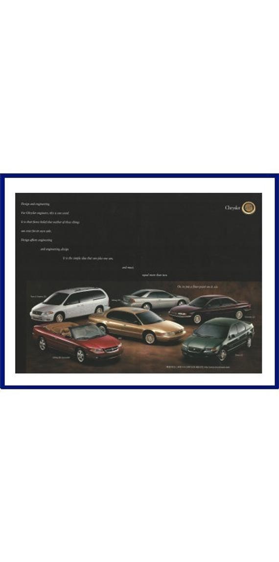 Chrysler Automobiles Original 1996 Vintage Print Advertisement