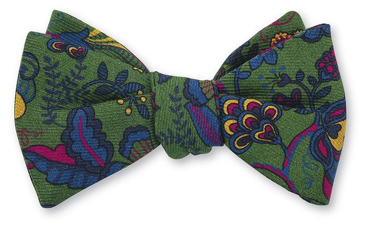 floral bow ties