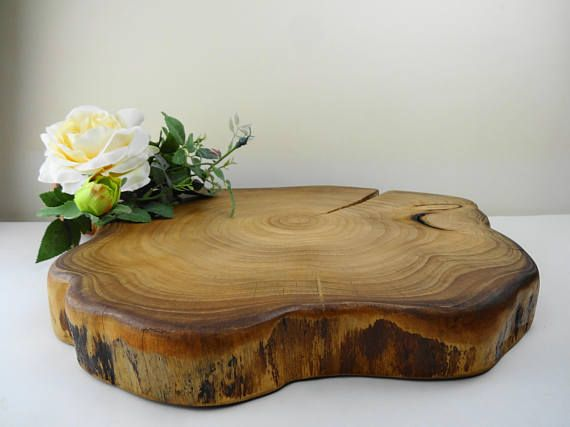 Wedding Cake Stand  Wood Cake Base Wood Cake Stand Rustic