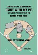 Free Printable Baseball Certificate templates, Baseball Awards - personalized certificates to print