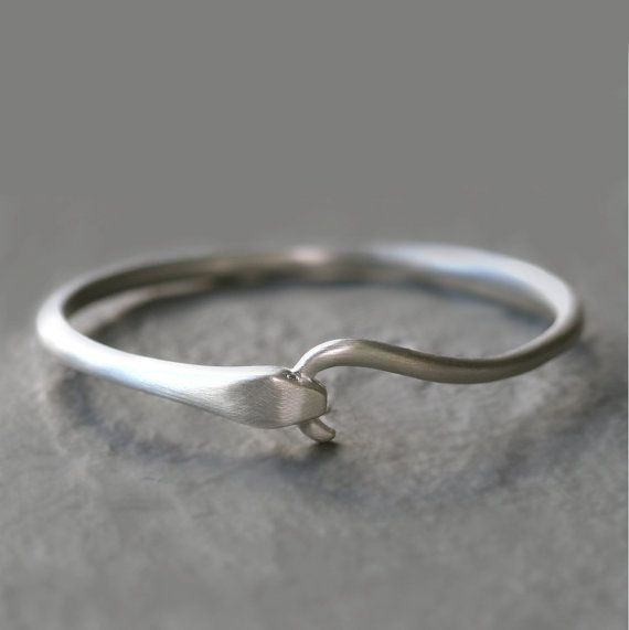 Snake bangle sterling silver with diamonds