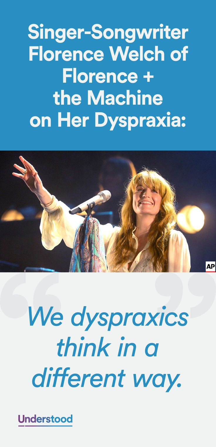 Find out how Florence Welch of Florence + the Machine developed a musical passion and followed her dream with dyspraxia.