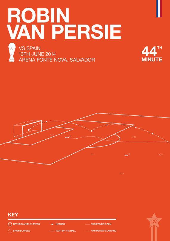 Robin Van Persie vs Spain Silk / Giclee Print by Rincks on Etsy