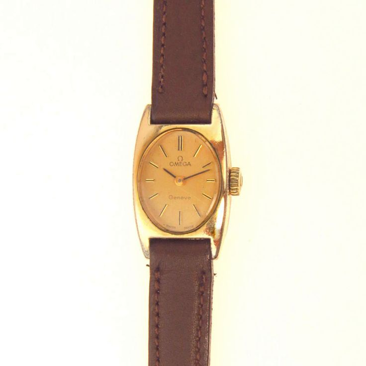 Vintage Omega Ladies Watch Gold Filled Leather Band 1970's