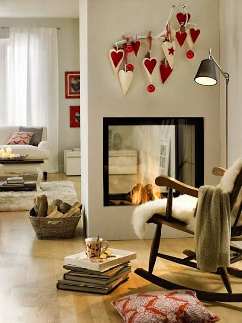 More details on Modern Country Style blog: House Tour: Why every Christmas home should use red!